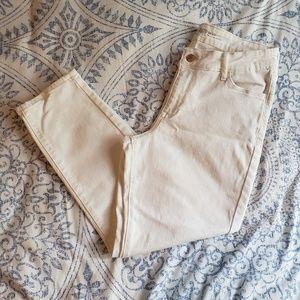 Old Navy White Cropped Denim